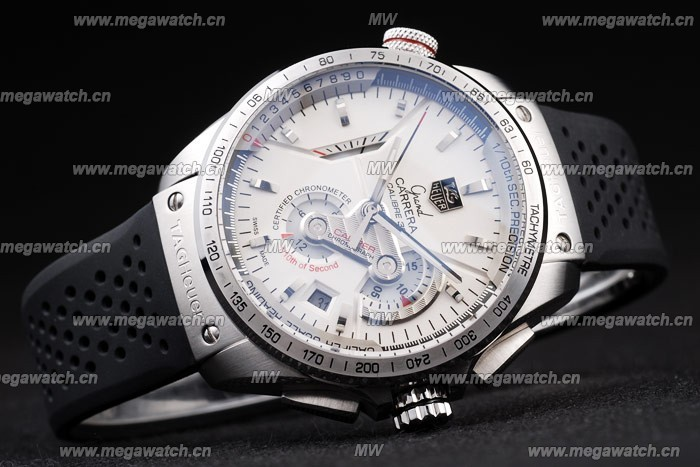 Black Rubber Strap Tag Heuer Grand Carrera replica